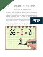 Calificación Porcentual
