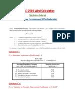 BNBC-2006 WIND Calculation