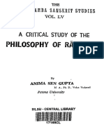 A Critical Study of the Philosophy of Ramanuja