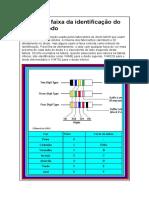 Tabela Da Faixa Da Identificação Do Cor Do Diodo