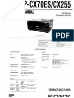 SONY CDP-CX70ES, CDP-CX255