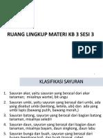 Materi KB 3.3  sayuran.pptx