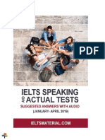 IELTS Speaking and Actual Tests Suggested Answers