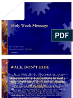 Holy Week Message