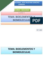 Clase II Bioelementos