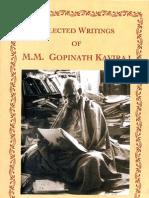Selected Writings of Mahamahopadhyaya Gopinath Kaviraj
