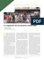 Art - Cruz Ignacio - La Regulación de Los Horarios Comerciales