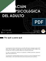 Evaluación Neuropsicológica del Adulto