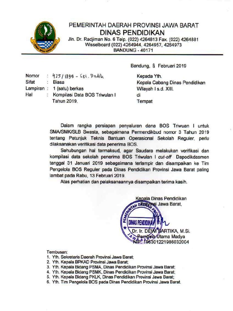 Contoh Kop Surat Dinas Pendidikan Provinsi Jawa Barat ...