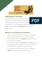 script research evaluation