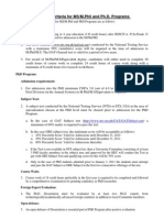 MPHIL Phd Criteria