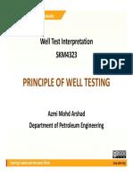 Well Test - Principle Week 02