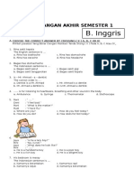 Soal UAS Bahasa Inggris Kelas 6 SD Semester 1 (Ganjil) Dan Kunci Jawaban (Www.bimbelbrilian.com)