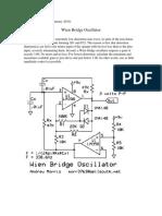 Wien Bridge Oscillator 1