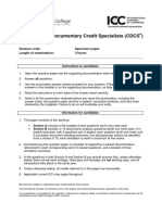 CDCS Specimen Paper - Sept 2014