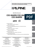 Alpine Cde-9848rb Manual