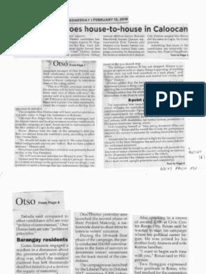 Philippine Star, Feb. 13, 2019, Otso Diretso goes house to