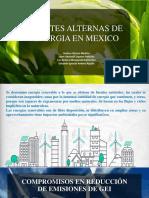 FUENTES ALTERNAS DE ENERGIA EN MÉXICO