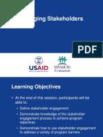 Engaging Stakeholders