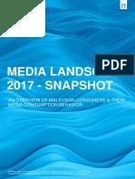 Malaysian Media Landscape 2017 - Snapshot