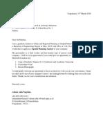 Application Letter ( )