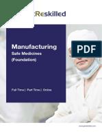 Manufacturing Safe Medicines Foundation Course Brochure Getreskilled