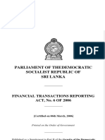 Financial Transactions Reporting Act Sri Lanka