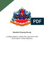 Namkhyung Dudjom Consise Tersar Ngondro Toluk