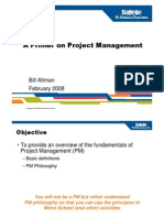 A Primer on Project Management_Metro