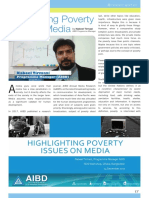 Highlighting poverty on media
