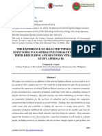 THE EXPERIENCE OF SELECTED TYPHOON HAIYAN SURVIVORS ON CO-OPERATIVE FORMATION AS PART OF THEIR REBUILDING AND RECOVERY STRATEGY (CASE STUDY APPROACH)
