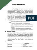 Neonatal Pneumonia Case Study