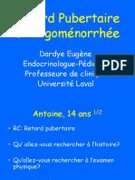 Puberté Et Retard Pubertaire Dre Dardye Eugène
