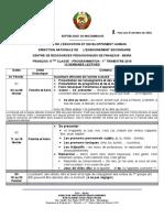 Programme 11ª 1er Trim 2019