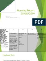 Morning Report Dr Nikson Mima