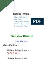English Lesson 1