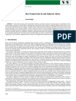 Post Crisis Monetary Policy Frameworks in Sub Saharan Africa