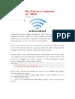 Mengganti Mac Address Komputer Menggunakan TMAC