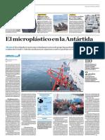 El Microplástico en La Antártida
