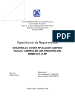 Especificacion de Requerimientos(Software)