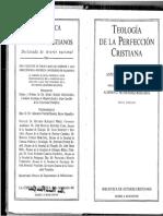 Teologia Da Perfeição Cristã