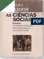 Para Abrir as Ciências Sociais - A Construção Histórica Das Ciências, Do Século XVIII Até 1945 - Capítulo 1