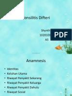 Tonsilitis Difteri Shynthia