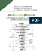 Historia Del Derecho. Derechos Reales .
