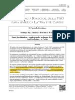 Conferencia Regional FAO 2018 ODS 2