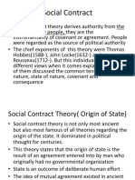Social Contract Theory Origin of State