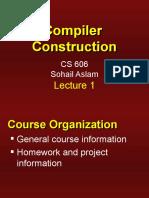 Compiler Construction - CS606 Power Point Slides Lecture 01