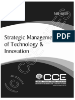 MB403D Strategic Management of Technology & Innovation