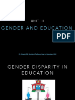 Gender Disparity in Education PPT