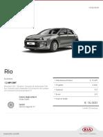 Kia Configurator Rio Evolution 20190212